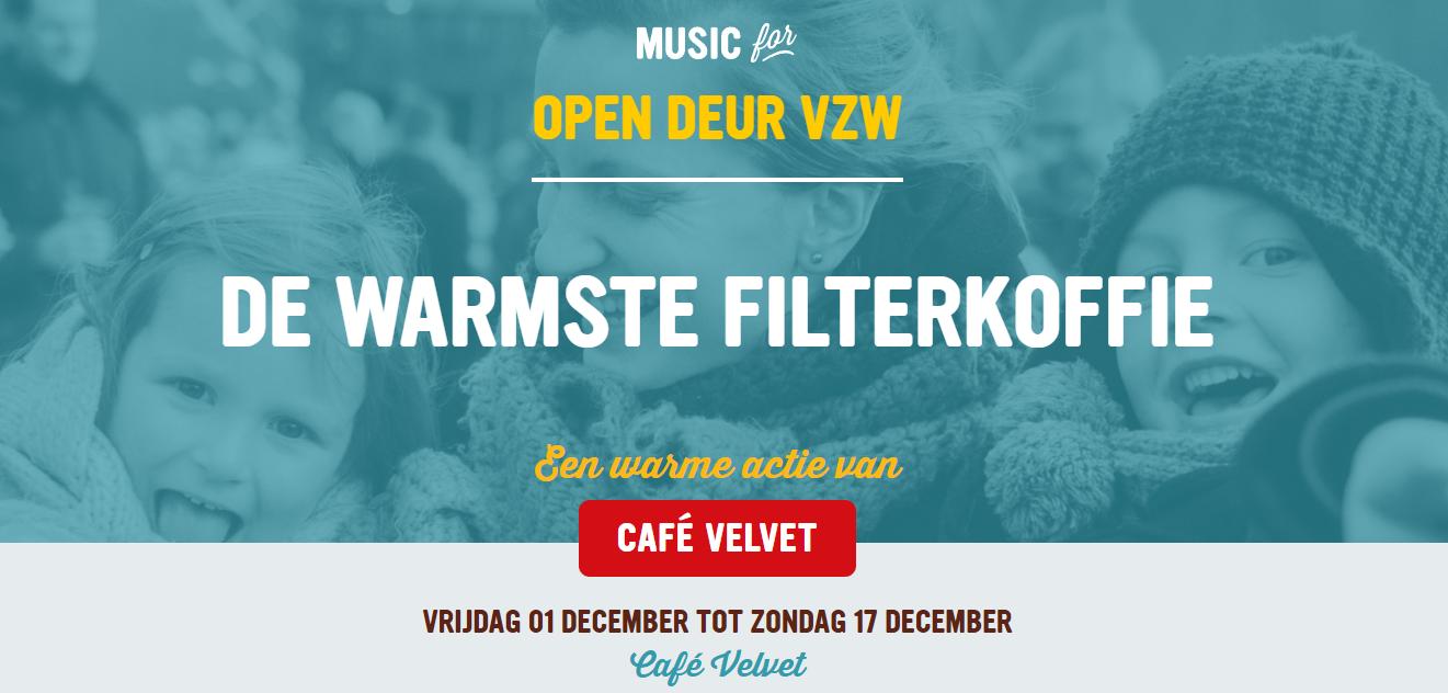 Café schenkt opbrengst aan Open Deur als Warme Actie